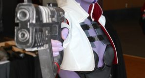 Aria T'Loak cosplayer from Mass Effect at PAX East 2014