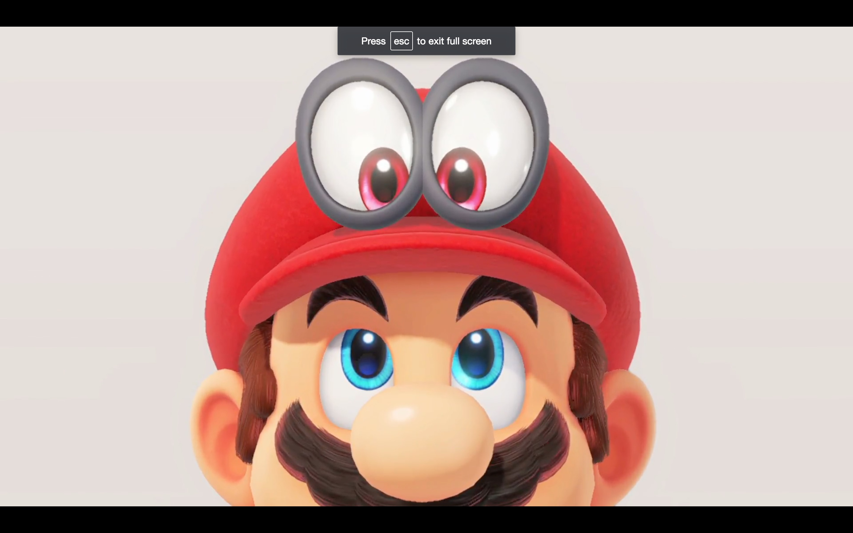 Mario's googly-eyed hat from Nintendo Switch presentation