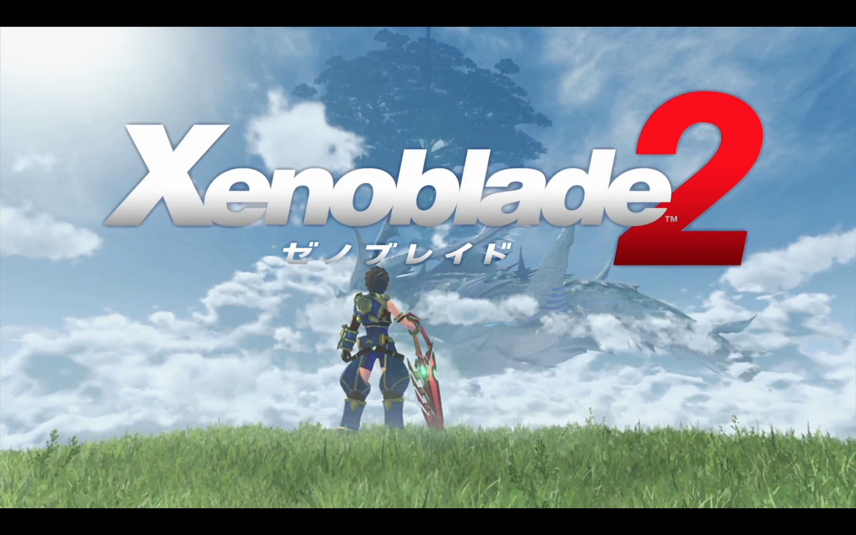 Xenoblade Chronicles 2 title screen from Nintendo Switch presentation