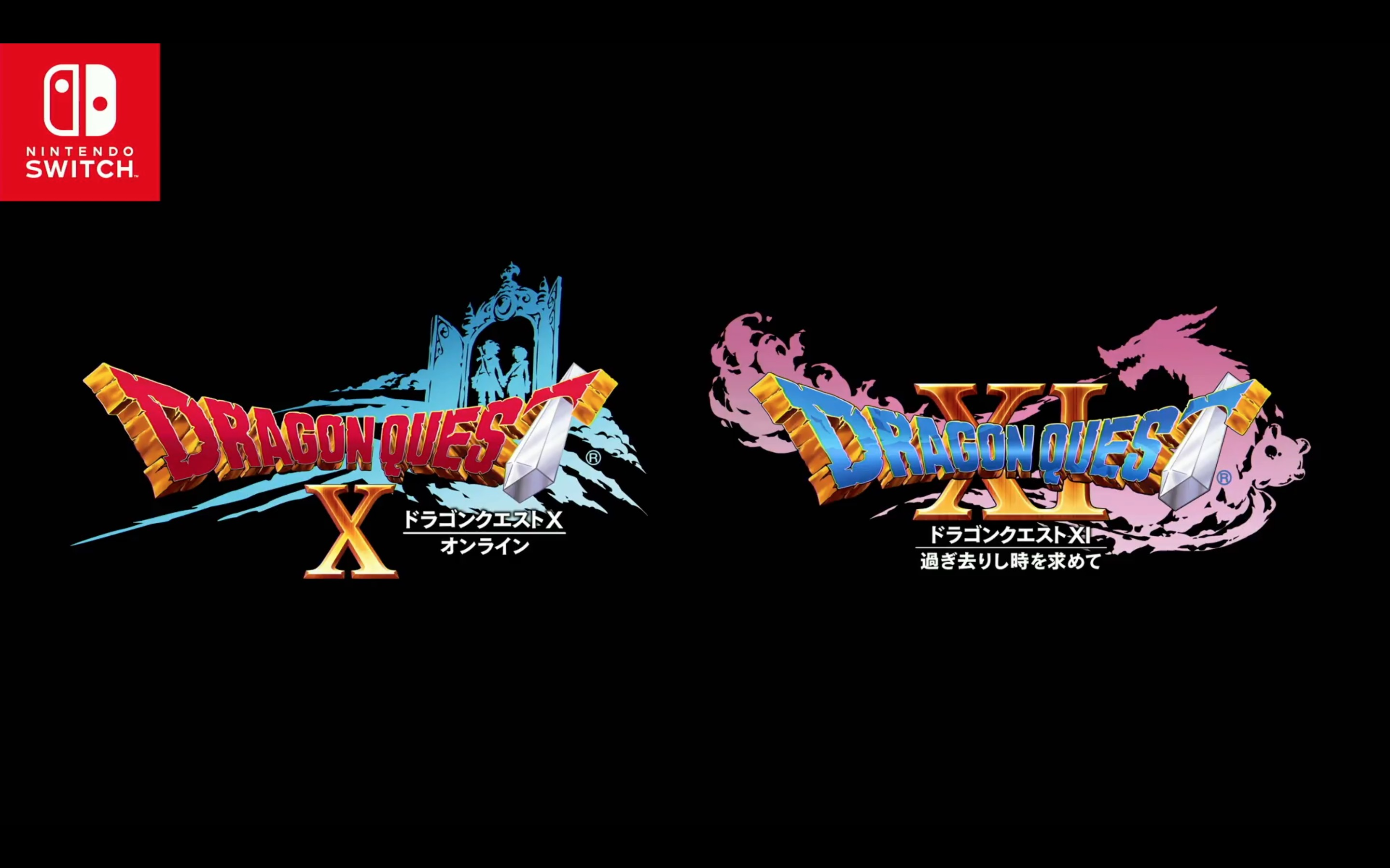 Dragon Quest X & XI title screen from Nintendo Switch presentation