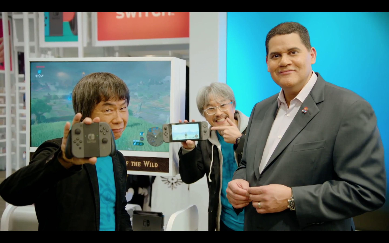 Shigeru Miyamoto & Eiji Aonuma at Nintendo Switch presentation