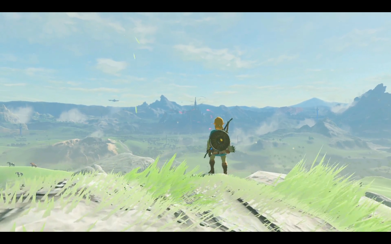 Link surveys the land in Nintendo Switch presentation