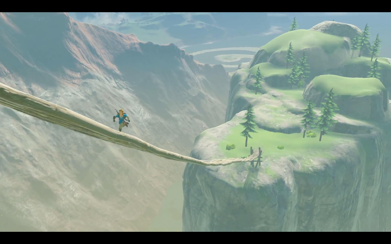 Link runs across a bridge in Nintendo Switch presentation