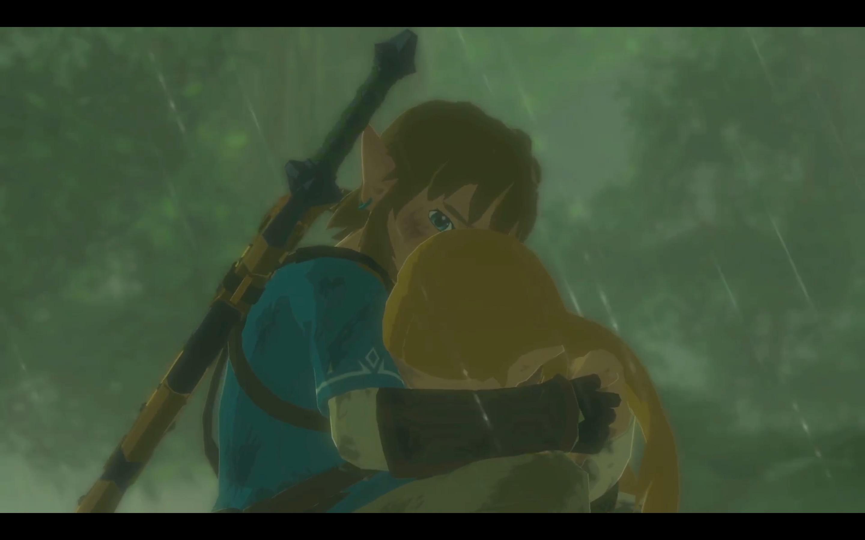 Link consoles Zelda in Nintendo Switch presentation