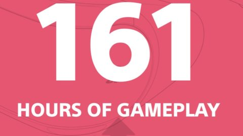 I clocked 161 hours of gameplay.