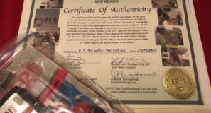 E.T. cartridge in plastic bag with certificate of authenticity