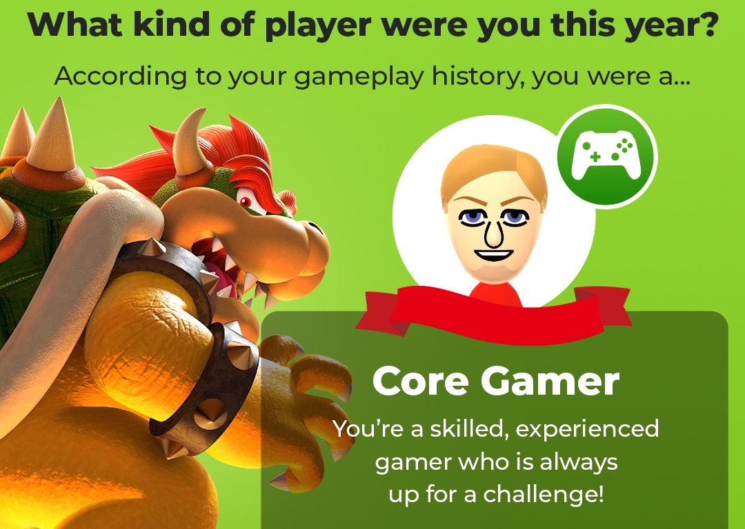 I was a core gamer: a skilled, experienced gamer who is always up for a challenge!